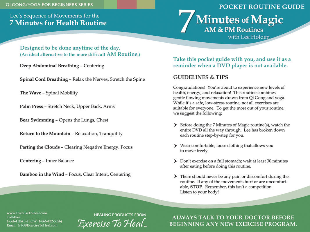 Click Here To View The 7 Minutes Of Magic Pocket Routine Guide Front