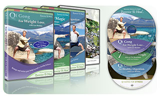 Qi Gong 4-Pack #3 - Weight Loss, Digestion, Stress, 7 Minutes
