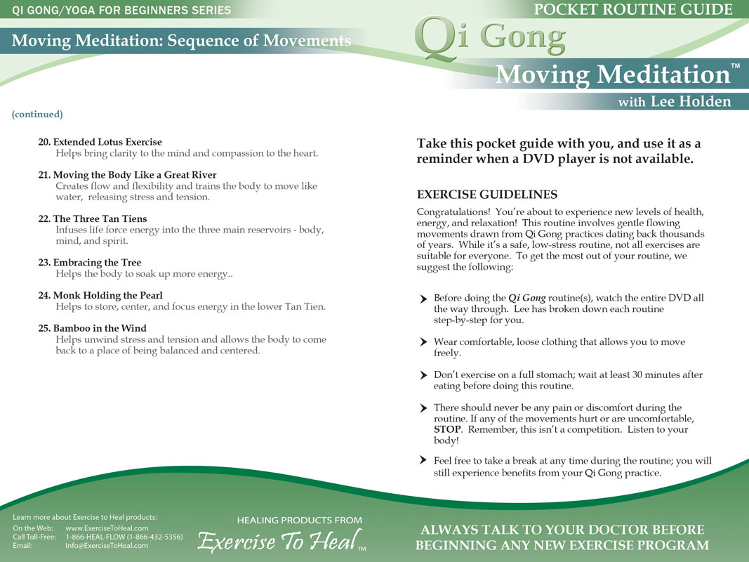 QiGong DVD: Moving Meditation - A full-body approach to inner peace