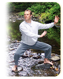A pose from Qi Gong for Low Back Pain