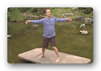 A screen shot from Qi Gong for Moving Meditation