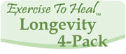 Longevity 4-Pack with Karen Holden:  Stretching, Stand Up & Stretch, Get Stronger, Shape-Up